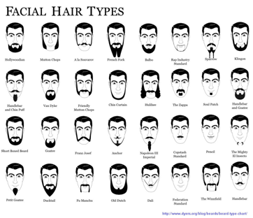 Bill facial hair types