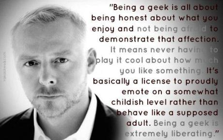 Simon Pegg being a geek George Takei