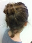 March girl bun